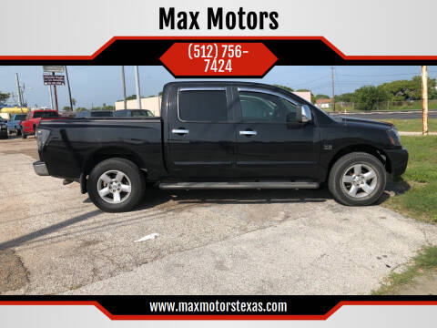 2004 Nissan Titan for sale at Max Motors in Corpus Christi TX