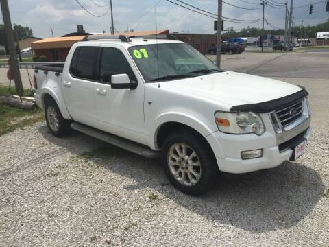 2007 Ford Explorer Sport Trac for sale at G LONG'S AUTO EXCHANGE in Brazil IN