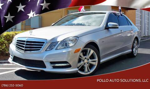 2012 Mercedes-Benz E-Class for sale at POLLO AUTO SOLUTIONS in Miami FL