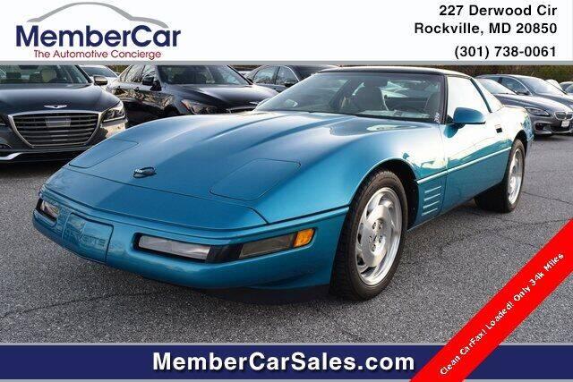 1994 Chevrolet Corvette for sale at MemberCar in Rockville MD