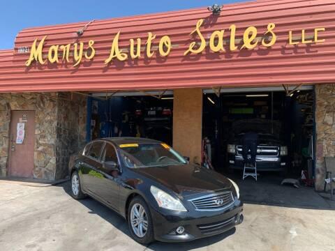 2011 Infiniti G25 Sedan for sale at Marys Auto Sales in Phoenix AZ