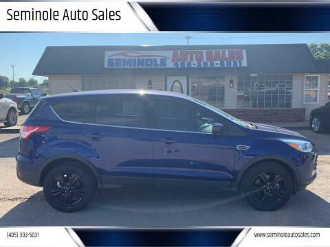 2016 Ford Escape for sale at Seminole Auto Sales in Seminole OK