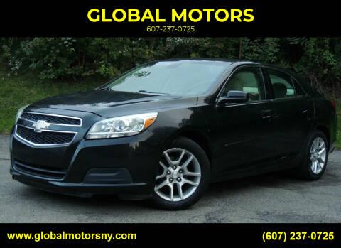 2013 Chevrolet Malibu for sale at GLOBAL MOTORS in Binghamton NY
