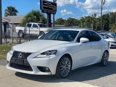 2014 Lexus IS 250 for sale at BEST MOTORS OF FLORIDA in Orlando FL