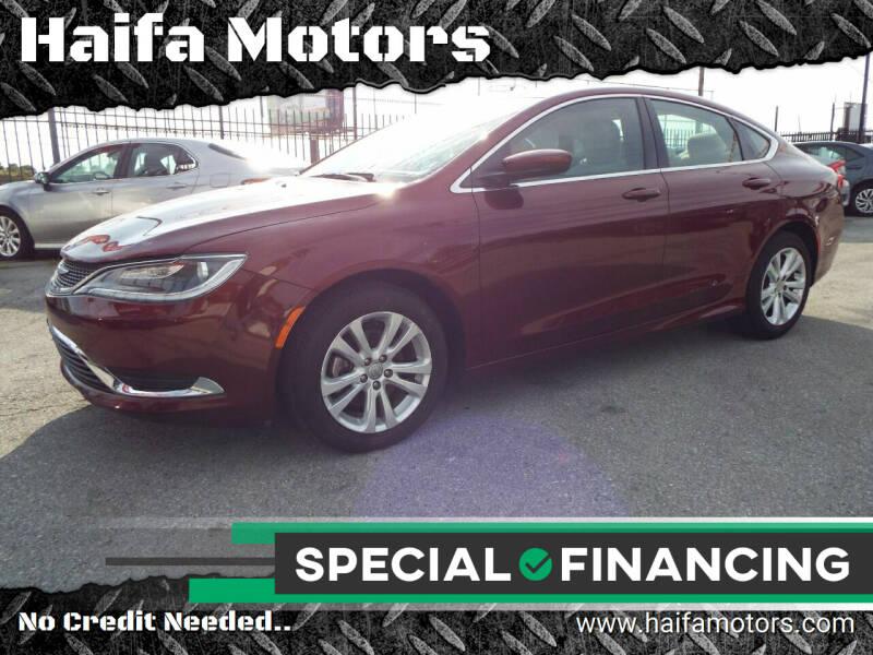 2016 Chrysler 200 for sale at Haifa Motors in Philadelphia PA