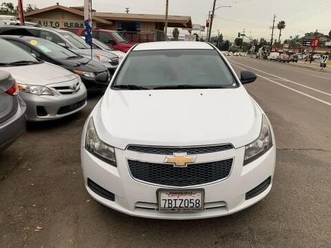 2013 Chevrolet Cruze for sale at Aria Auto Sales in El Cajon CA