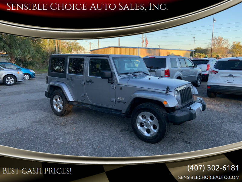 2013 Jeep Wrangler Unlimited for sale at Sensible Choice Auto Sales, Inc. in Longwood FL