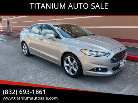 2015 Ford Fusion for sale at TITANIUM AUTO SALE in Houston TX