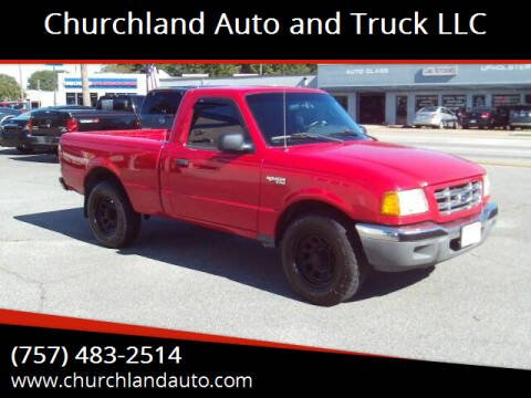 2003 Ford Ranger for sale at Churchland Auto and Truck LLC in Portsmouth VA