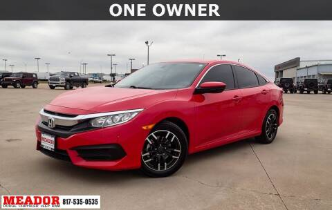 2018 Honda Civic for sale at Meador Dodge Chrysler Jeep RAM in Fort Worth TX