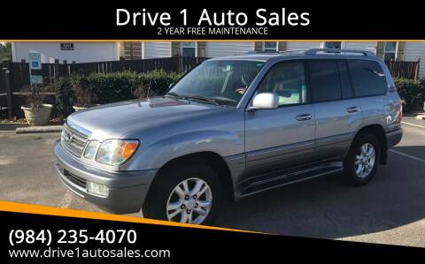 2004 Lexus LX 470 for sale at Drive 1 Auto Sales in Wake Forest NC