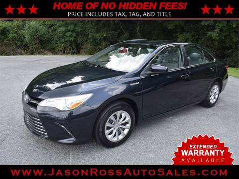 2017 Toyota Camry Hybrid for sale at Jason Ross Auto Sales in Burlington NC