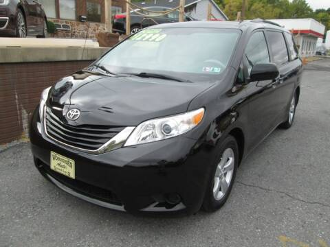 2012 Toyota Sienna for sale at WORKMAN AUTO INC in Pleasant Gap PA