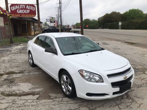 2012 Chevrolet Malibu for sale at Quality Auto Group in San Antonio TX