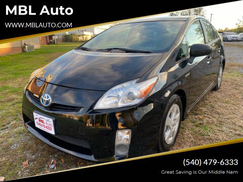 2011 Toyota Prius for sale at MBL Auto in Fredericksburg VA