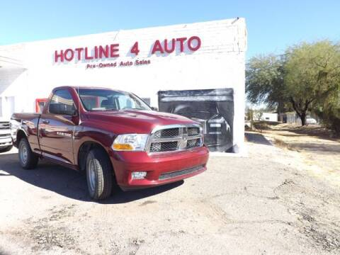 2012 RAM Ram Pickup 1500 for sale at Hotline 4 Auto in Tucson AZ
