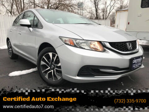 2013 Honda Civic for sale at Certified Auto Exchange in Keyport NJ