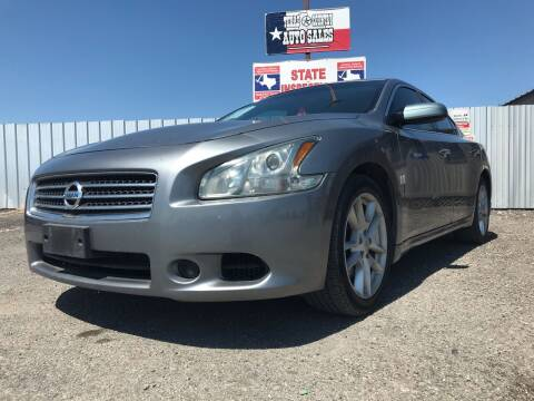 2009 Nissan Maxima for sale at Texas Country Auto Sales LLC in Austin TX