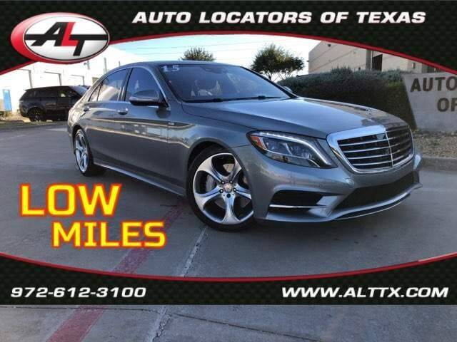 2015 Mercedes-Benz S-Class for sale at AUTO LOCATORS OF TEXAS in Plano TX