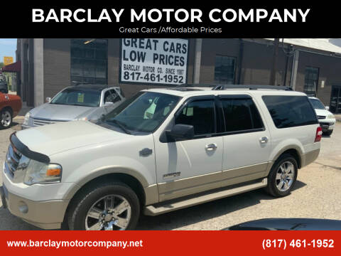 2008 Ford Expedition EL for sale at BARCLAY MOTOR COMPANY in Arlington TX