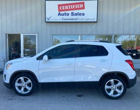 2015 Chevrolet Trax for sale at Certified Auto Sales in Des Moines IA