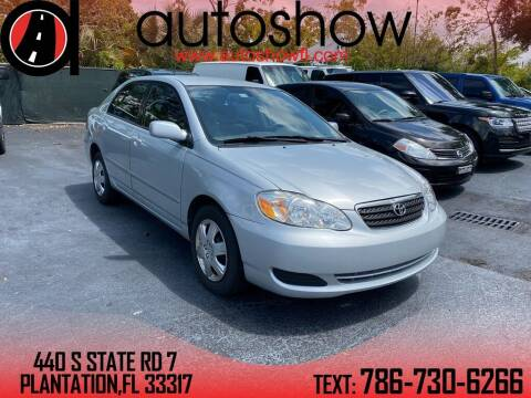 2008 Toyota Corolla for sale at AUTOSHOW SALES & SERVICE in Plantation FL