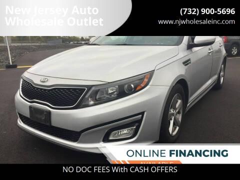 2015 Kia Optima for sale at New Jersey Auto Wholesale Outlet in Union Beach NJ