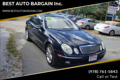 2005 Mercedes-Benz E-Class for sale at BEST AUTO BARGAIN inc. in Lowell MA