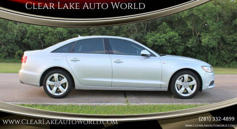 2012 Audi A6 for sale at Clear Lake Auto World in League City TX