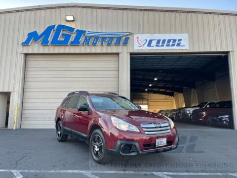 2013 Subaru Outback for sale at MGI Motors in Sacramento CA