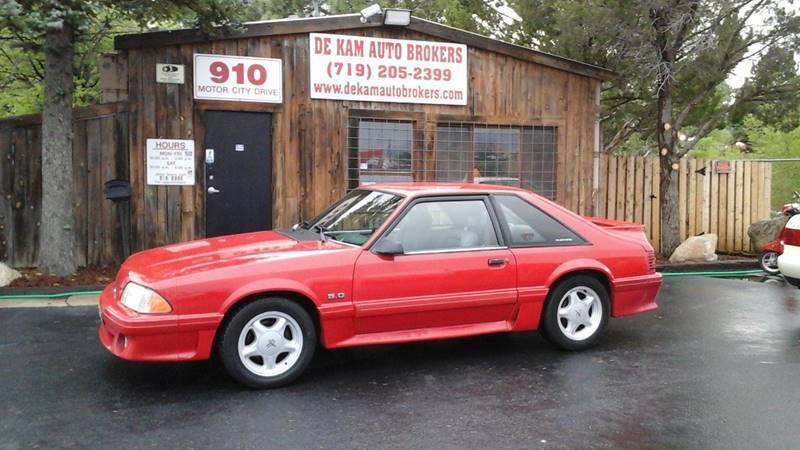 1993 Ford Mustang for sale at De Kam Auto Brokers in Colorado Springs CO