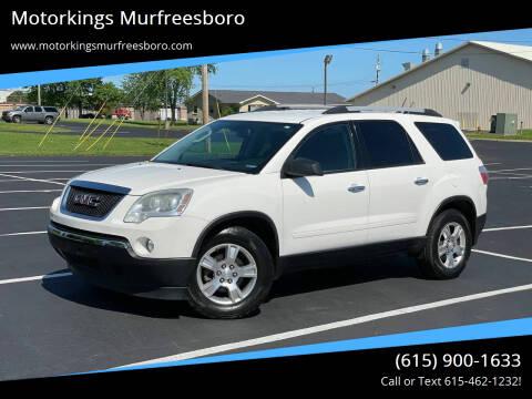 2012 GMC Acadia for sale at Motorkings Murfreesboro in Murfreesboro TN