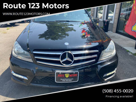 2014 Mercedes-Benz C-Class for sale at Route 123 Motors in Norton MA