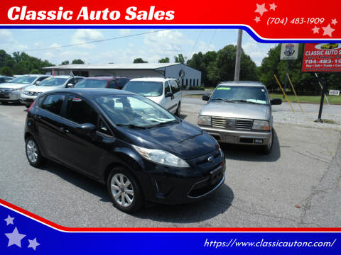 2012 Ford Fiesta for sale at Classic Auto Sales in Maiden NC