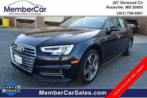 2018 Audi A4 for sale at MemberCar in Rockville MD