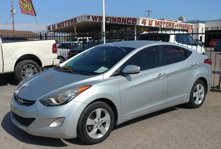 2013 Hyundai Elantra for sale at 4 U MOTORS in El Paso TX