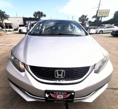 2013 Honda Civic for sale at Car Ex Auto Sales in Houston TX
