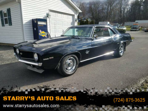 1969 Chevrolet Camaro for sale at STARRY'S AUTO SALES in New Alexandria PA