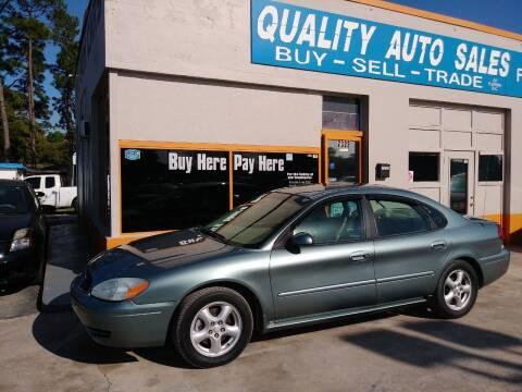 2004 Ford Taurus for sale at QUALITY AUTO SALES OF FLORIDA in New Port Richey FL
