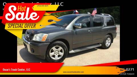 2004 Nissan Armada for sale at Oscar's Truck Center, LLC in Houston TX