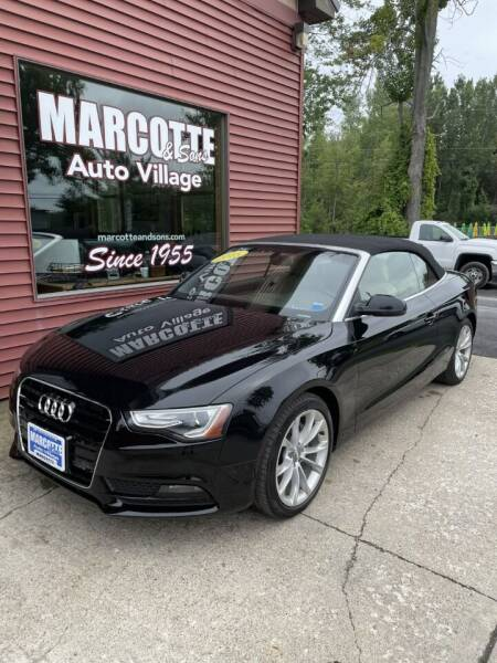 2013 Audi A5 for sale at Marcotte & Sons Auto Village in North Ferrisburgh VT