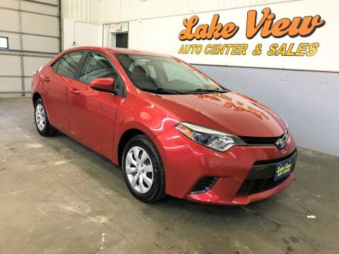 2015 Toyota Corolla for sale at Lake View Auto Center and Sales in Oshkosh WI