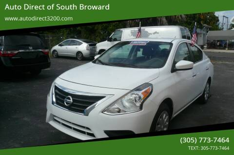 2018 Nissan Versa for sale at Auto Direct of South Broward in Miramar FL