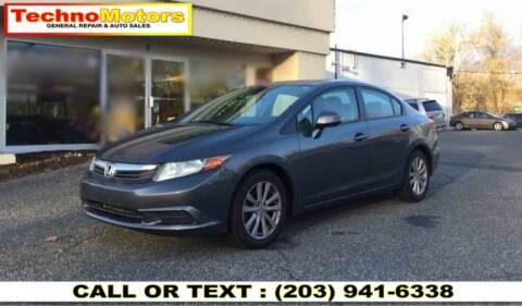 2012 Honda Civic for sale at Techno Motors in Danbury CT