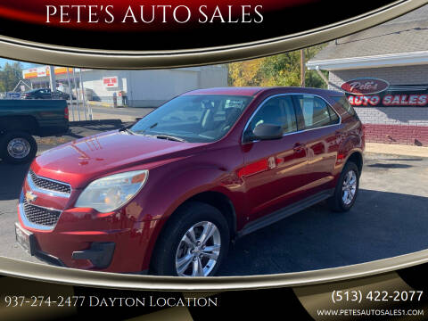 2010 Chevrolet Equinox for sale at PETE'S AUTO SALES LLC - Dayton in Dayton OH