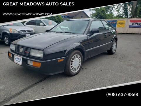 1990 Volkswagen Corrado for sale at GREAT MEADOWS AUTO SALES in Great Meadows NJ
