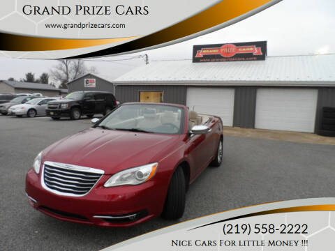 2013 Chrysler 200 Convertible for sale at Grand Prize Cars in Cedar Lake IN