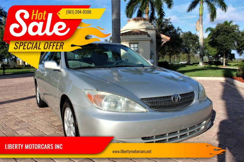 2003 Toyota Camry for sale at LIBERTY MOTORCARS INC in Royal Palm Beach FL