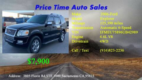 2006 Ford Explorer for sale at PRICE TIME AUTO SALES in Sacramento CA
