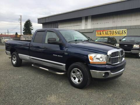 2006 Dodge Ram Pickup 1500 for sale at A & V AUTO SALES LLC in Marysville WA